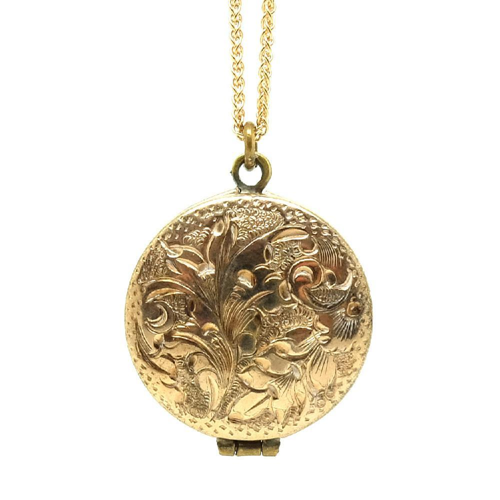 Antique Victorian Gold Filled Locket Necklace