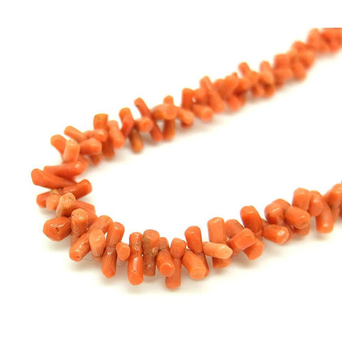 Antique Victorian Orange Branch Coral Necklace