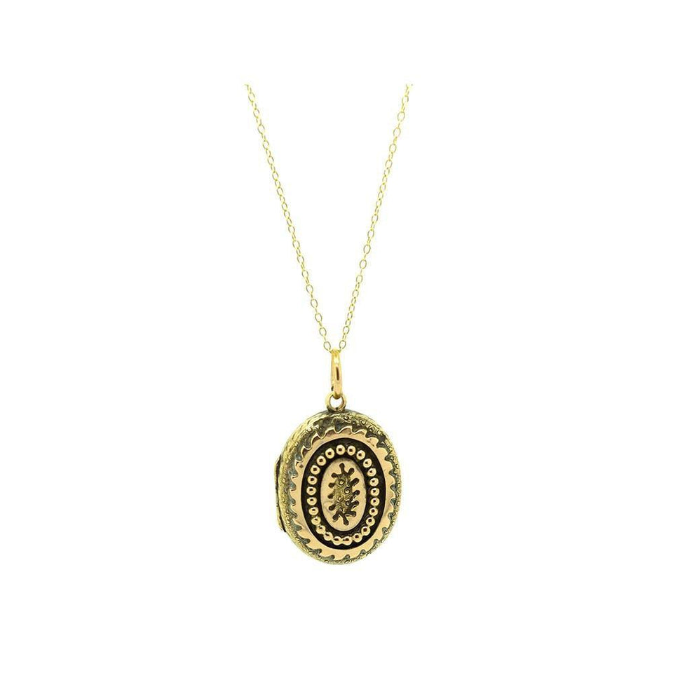 Antique Victorian Ornate 9ct Yellow Gold Locket
