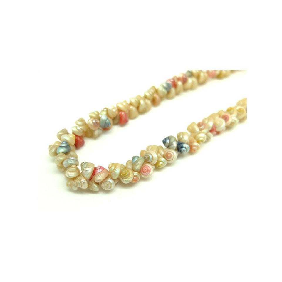 Antique Victorian Pastel Shell Necklace
