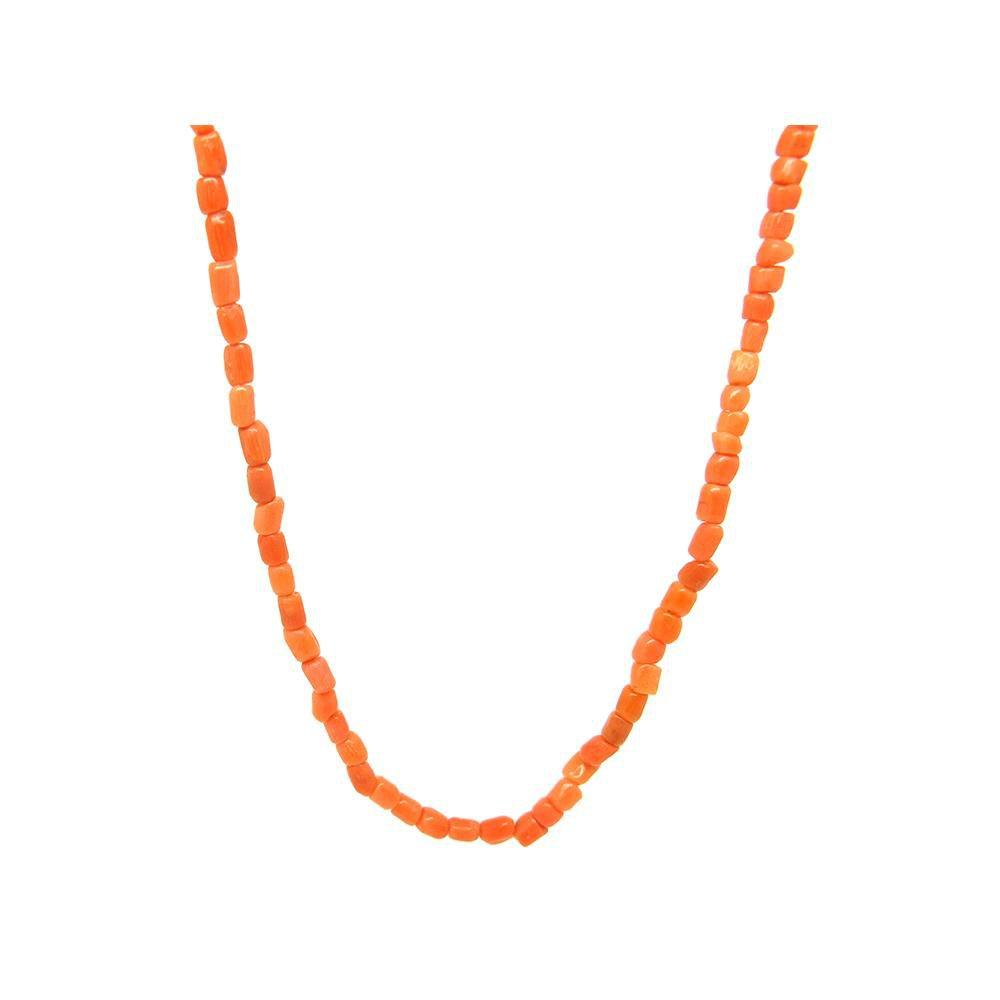Antique Victorian Single Strand Tiny Coral Necklace