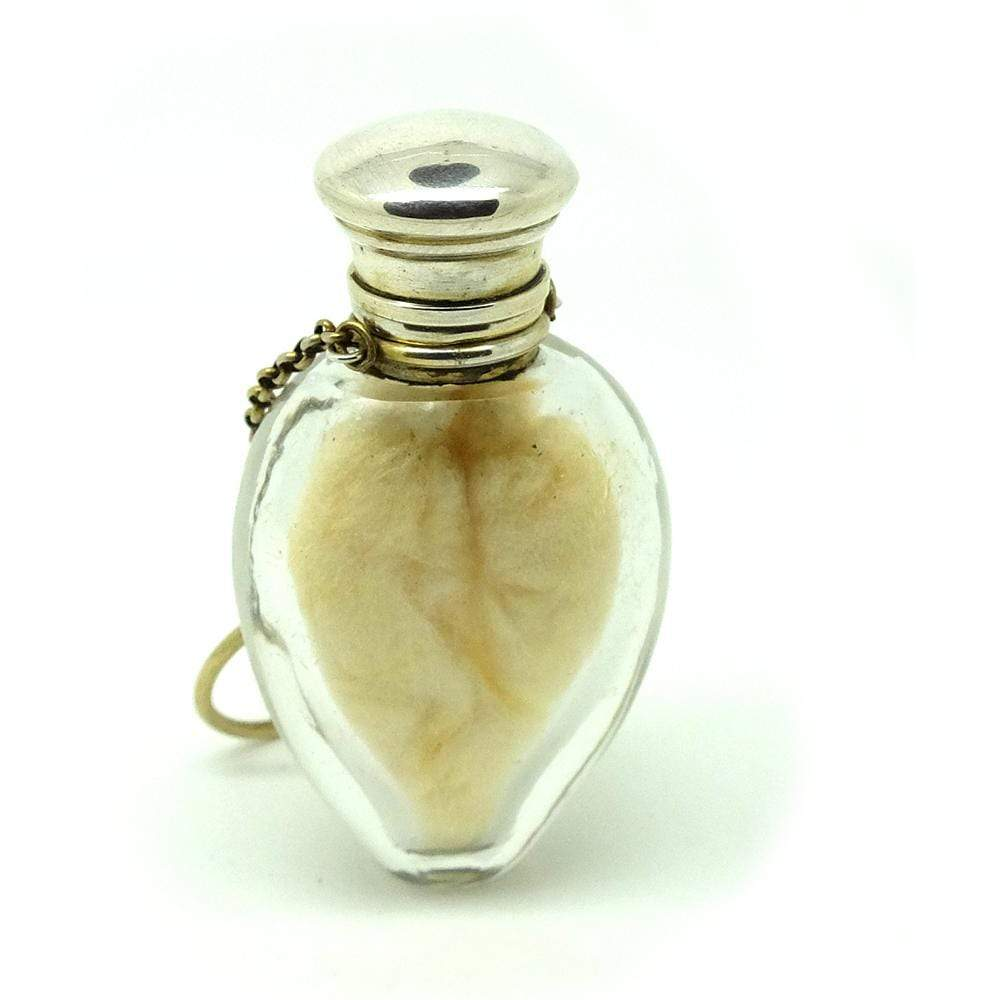 VICTORIAN PERFUME BOTTLE Antique Victorian Sterling Silver Perfume Scent Bottle