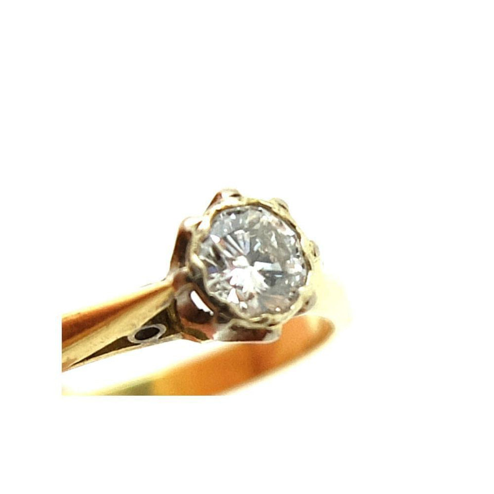 Antique Edwardian 0.21ct Diamond & 18ct Gold Engagement Ring