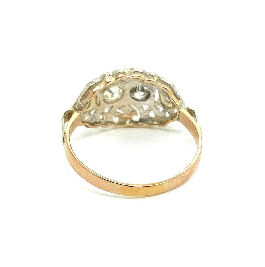 VICTORIAN Ring Antique Victorian 0.42ct Diamond 9ct Rose Gold Ring