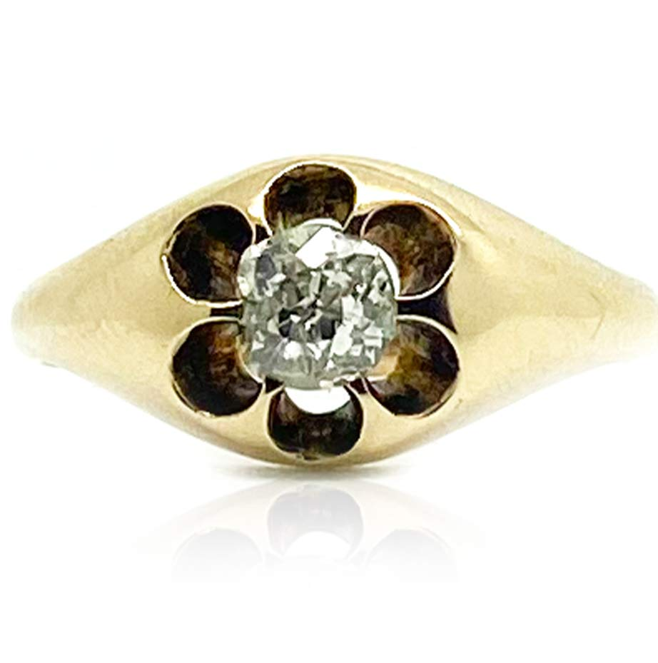 VICTORIAN Ring Antique Victorian 0.45ct Old Cut Diamond Ring