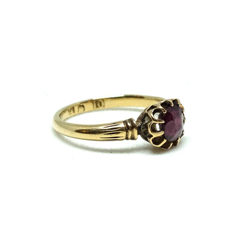 Antique Victorian 10ct Gold Rhodolite Garnet Ring