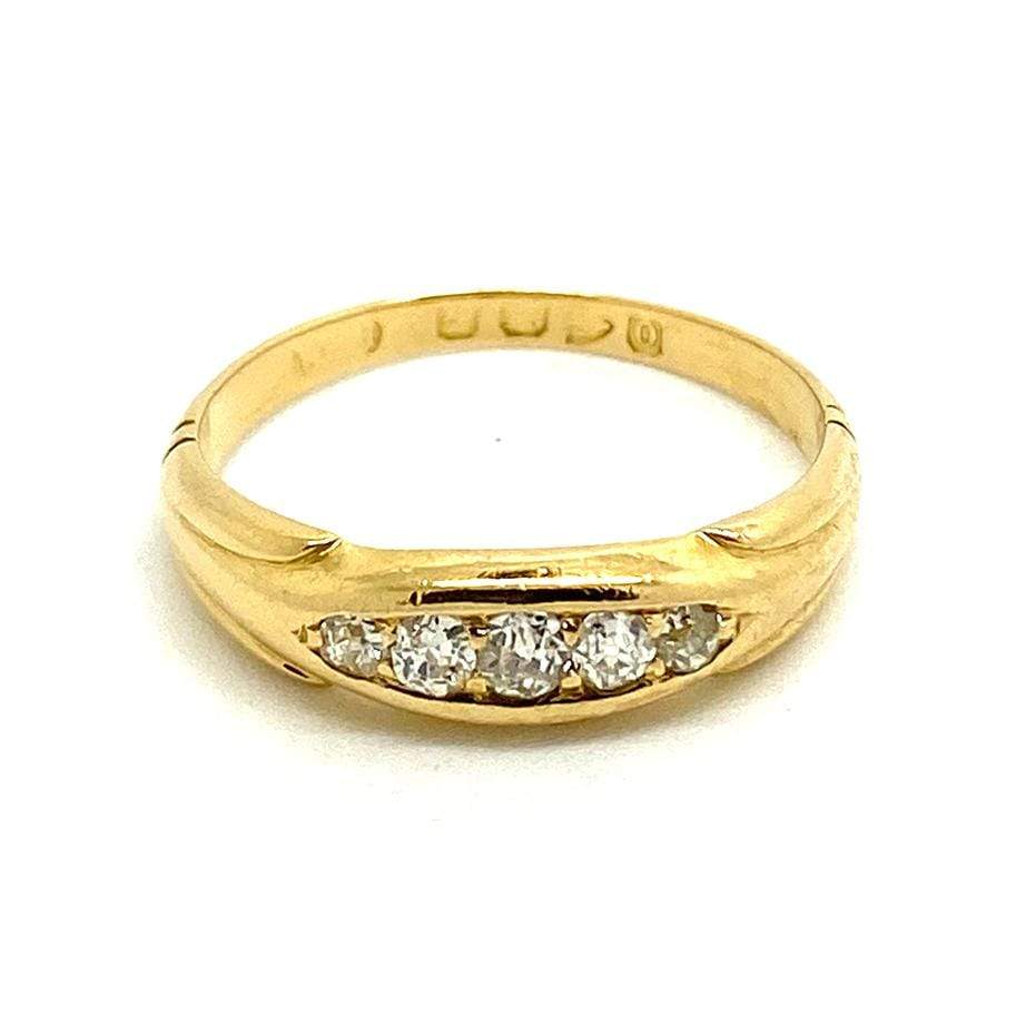 VICTORIAN Ring Antique Victorian 1897 Diamond 18ct Gold Ring