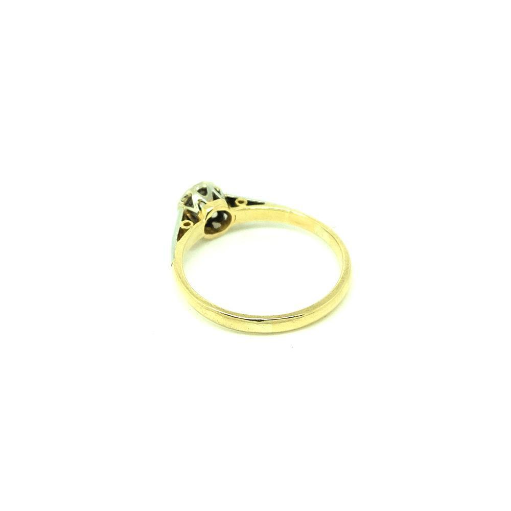 Antique Victorian 33pt Solitaire Diamond 18ct Gold Ring
