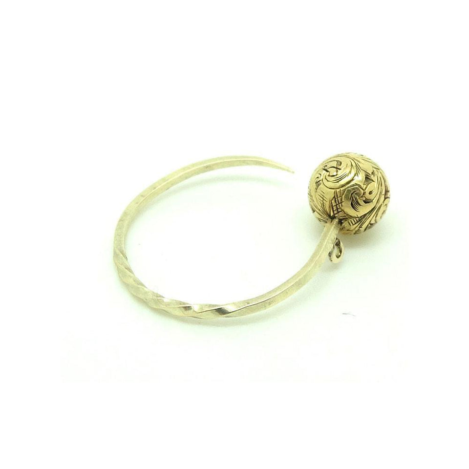 Antique Victorian 9ct Gold Ball Conversion Spike Ring