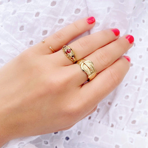 VICTORIAN Ring Antique Victorian 9ct Yellow Gold Pinky Ring