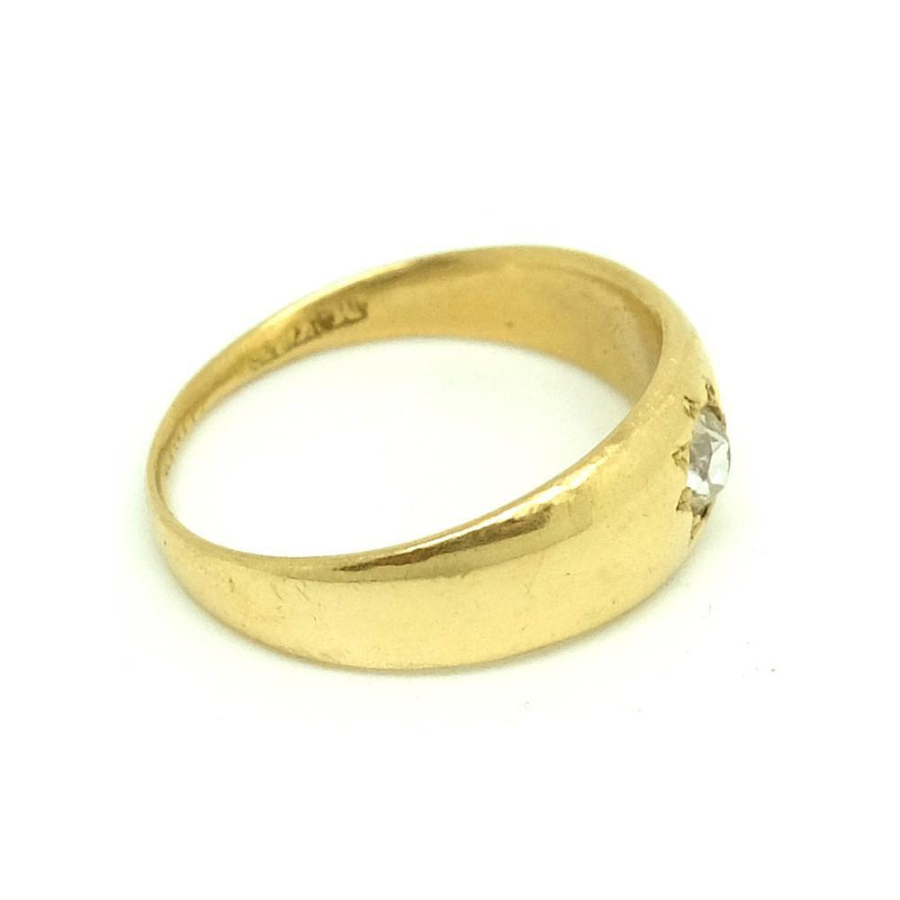 Antique Victorian Diamond 18ct Yellow Gold Ring