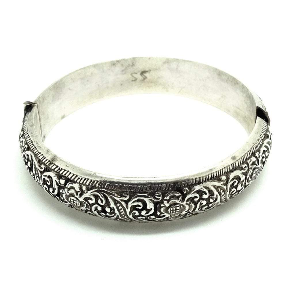 VINTAGE Bracelet Vintage Sterling Silver Indochinese Bangle Bracelet