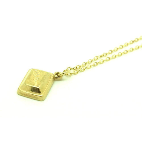 VINTAGE Necklace Vintage Cadburys Chocolate Bar 9ct Gold Charm Necklace