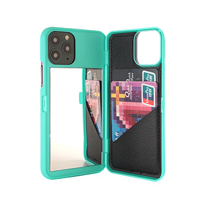 Luxury Italian Design Case with Hidden Mirror & Wallet for iPhone 12 Series