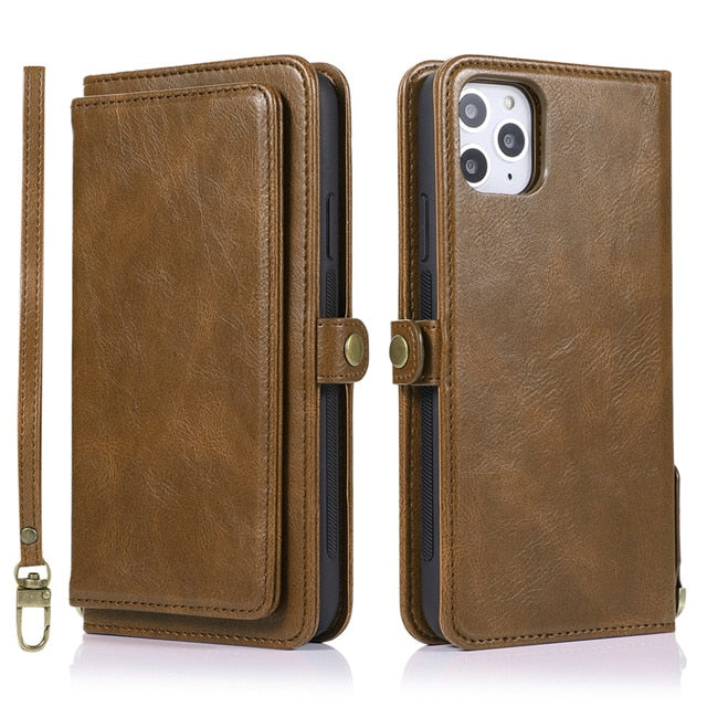 Luxury Flip Wallet Case For iPhone