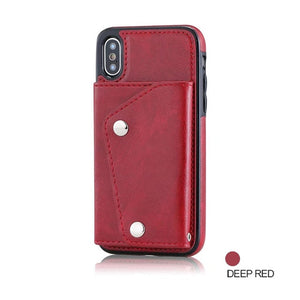 Wallet Flip PU Leather Case For iPhones