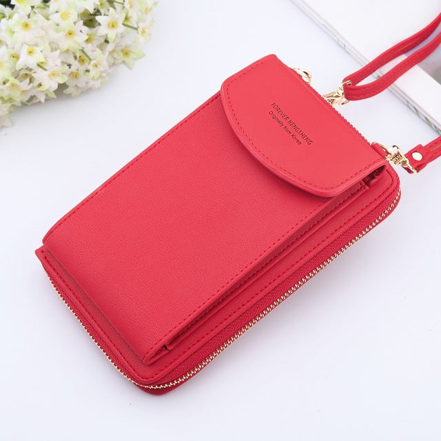 2020 Leather Phone Wallet with Shoulder Straps [fits all phones]