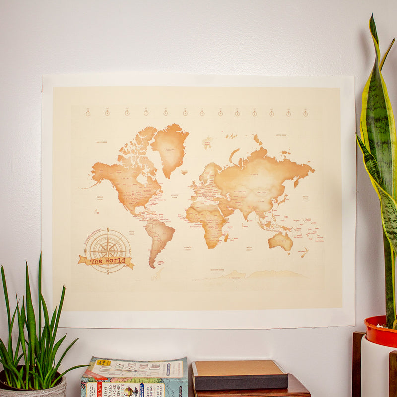 Canvas Map Posters