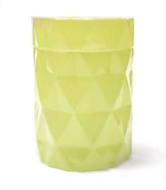 Candy Green and Candy Yellow Diamond Cut Candle