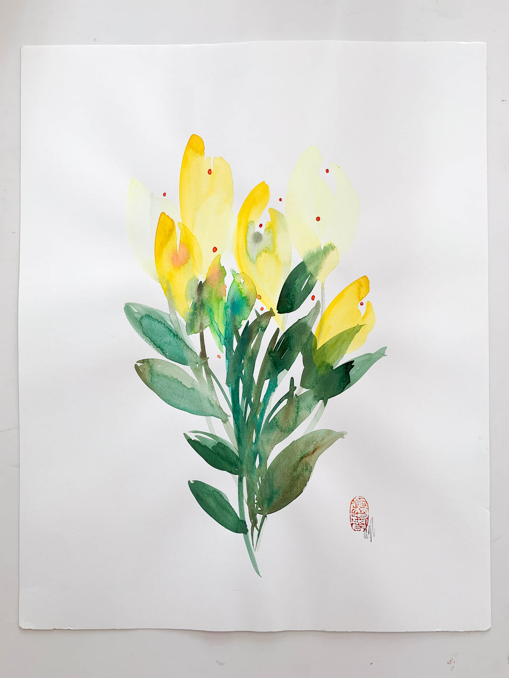 Yellow Tulips (Medium)