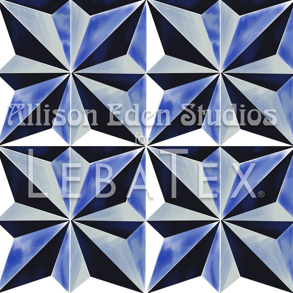 Blue Jewel - Allison Eden Customizable Fabric