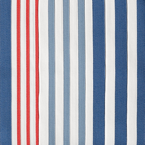 Canton Stripe-Sailor Blue Indoor/Outdoor Upholstery Fabric