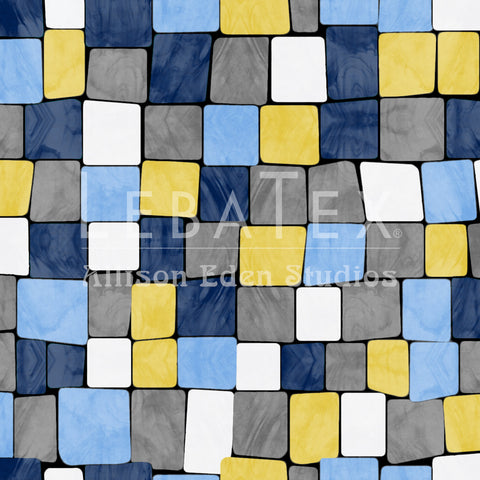 Cobblestone-Sapphire Customizable Fabric