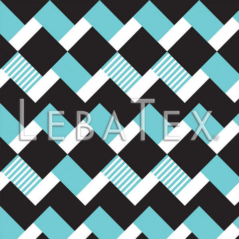 LebaTex Block Stripe-Turquoise Customizable M.O.D. Fabric