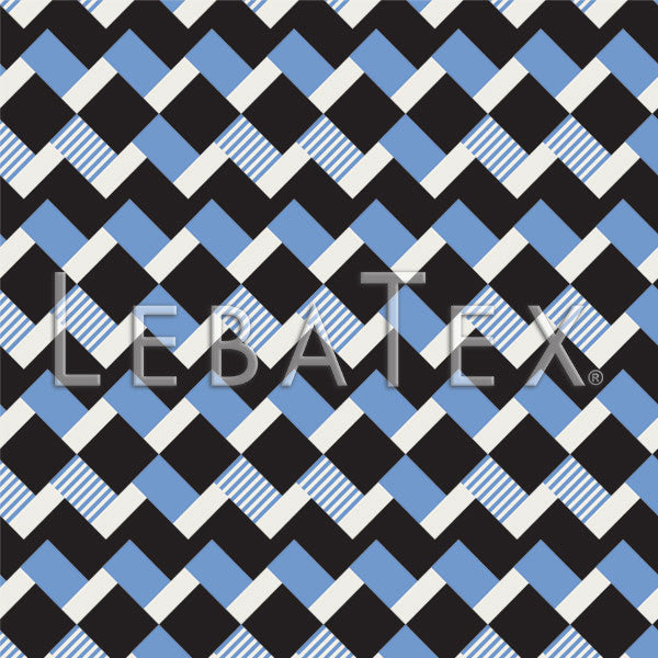 LebaTex Block Stripe-Blue Customizable M.O.D. Fabric