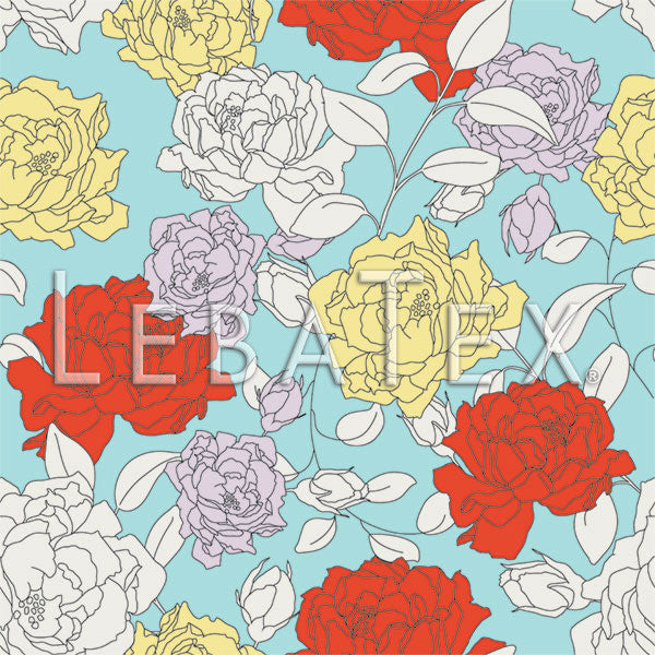 LebaTex Rose Parade Customizable M.O.D. Fabric