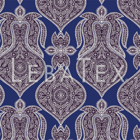 LebaTex Paisley Plaid Customizable M.O.D. Fabric