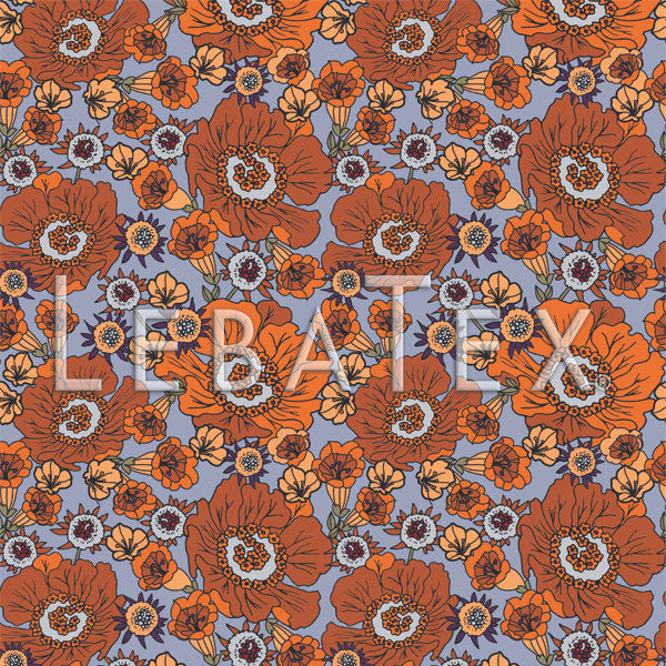 LebaTex Poppy-Fields Customizable M.O.D. Fabric