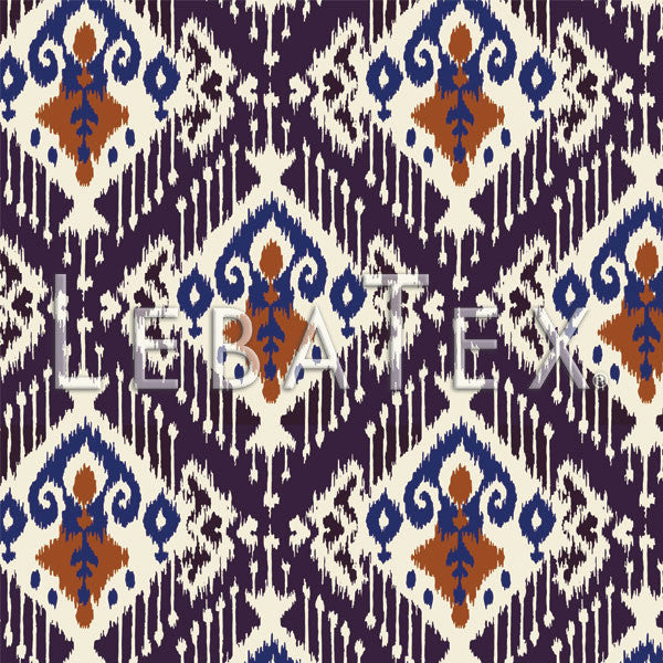 LebaTex Crested Ikat Customizable M.O.D. Fabric