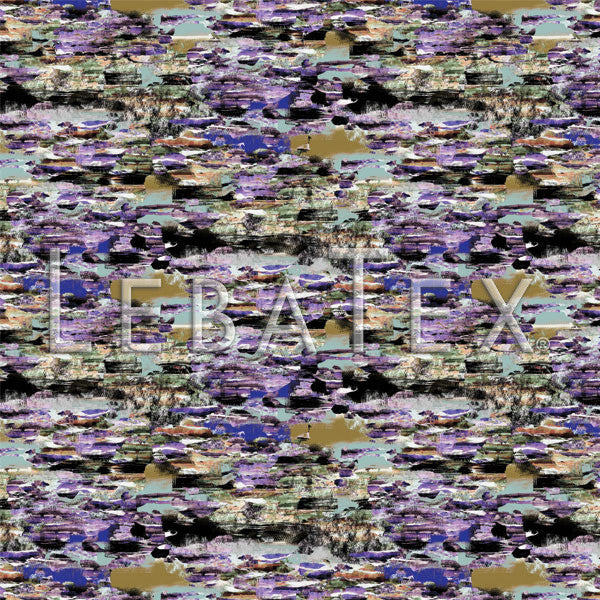 LebaTex Murmurs-Lavender Customizable M.O.D. Fabric