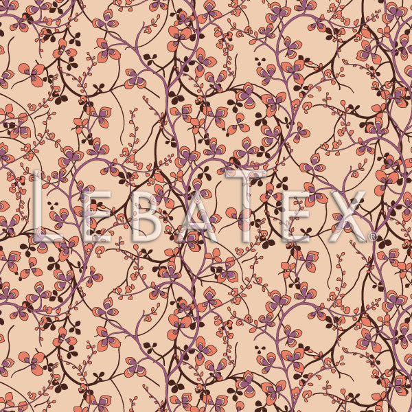 Delicate Vine-Vintage Rose Customizable M.O.D. Fabric