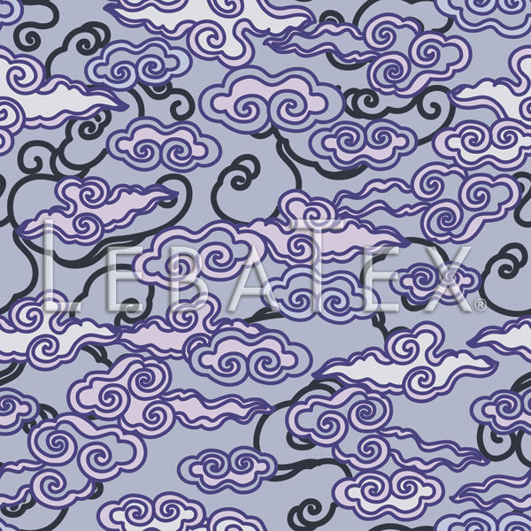 LebaTex Billow-Lavender Customizable M.O.D. Fabric
