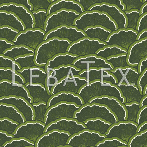 Fan Scallop-Green Customizable M.O.D. Fabric