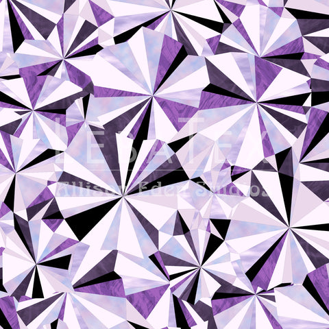 Facet-Amethyst Customizable Fabric