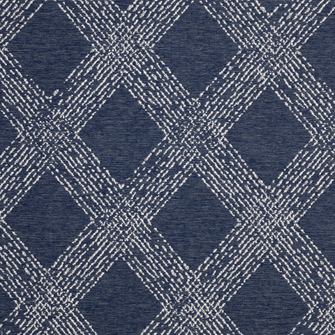 Folklore-Marine Indoor/Outdoor Upholstery Fabric