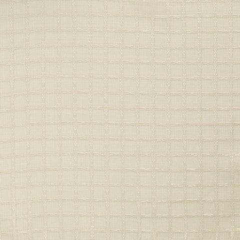 Grid-Buff Drapery Fabric