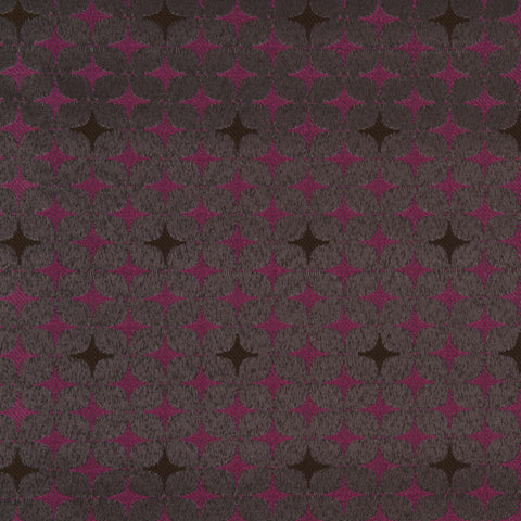 Harper-Charcoal / Fuchsia Upholstery Fabric