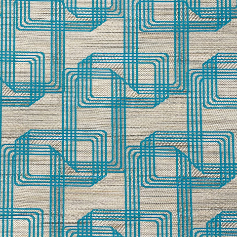 Improv-Turquoise Upholstery Fabric
