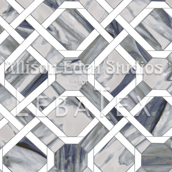 Marble Trellis - Allison Eden Customizable Fabric