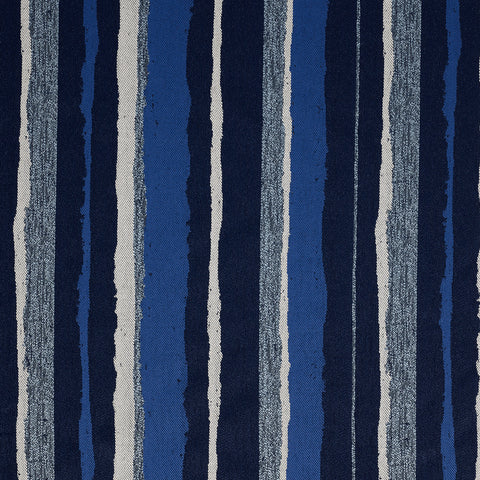Montauk Stripe-Indigo Indoor/Outdoor Upholstery Fabric
