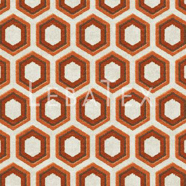 Retro Hex-Burnt Sienna Customizable M.O.D. Fabric