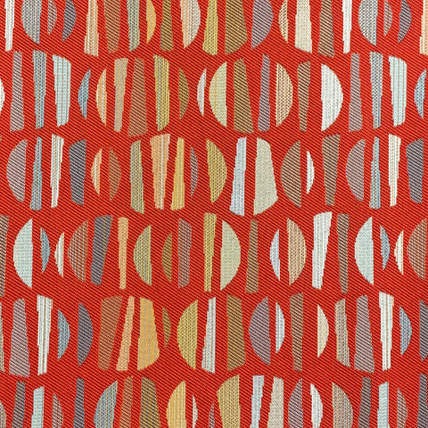 Geometric Red Crypton Upholstery Fabric