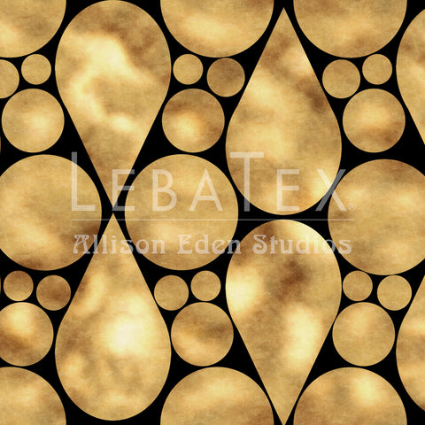Tear Drop-Gold Customizable Fabric