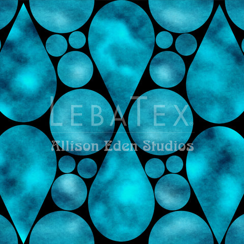 Tear Drop-Seaglass Customizable Fabric