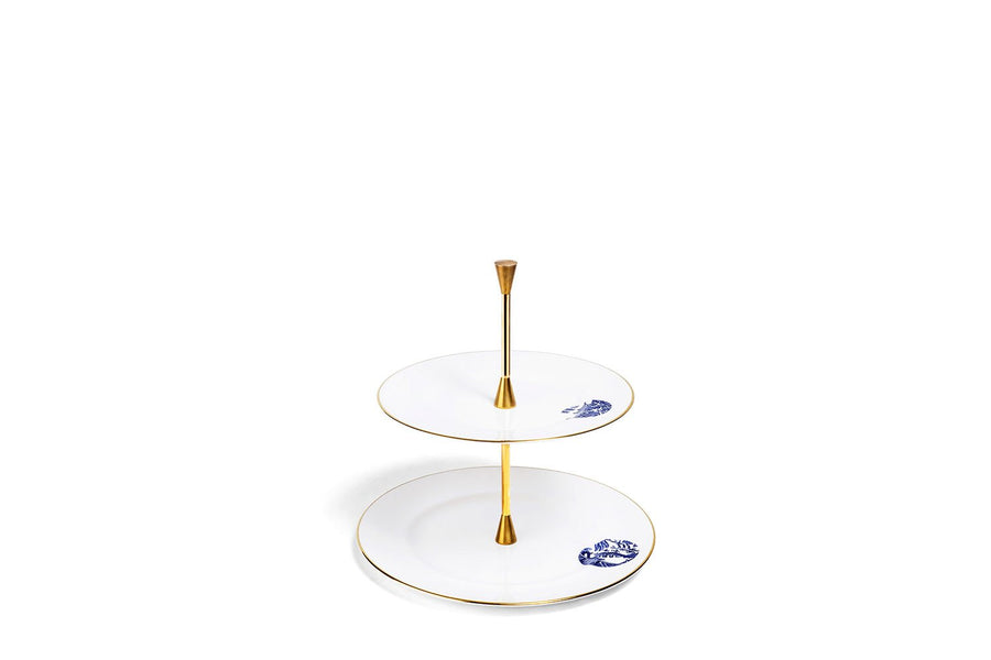 2 Tier Cake Stand Gold