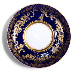 Gold Espresso Cup & Crown Staffordshire Saucer, c.1889